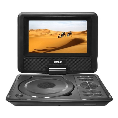 9'' Widescreen High Resolution Portable Monitor w/ Built-In DVD, MP3, MP4 Players, USB Port & SD Card Slot Readers
