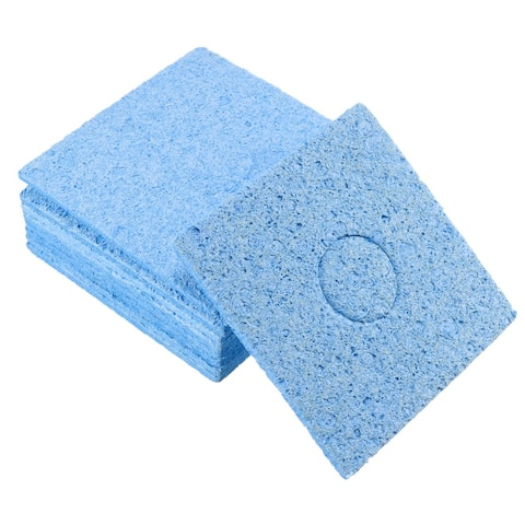 Soldering Sponge 60x60x11mm for Iron Tips Cleaner, Square Blue 10pcs - Square Thick 10pcs