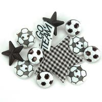 Soccer - Dress It Up Embellishments