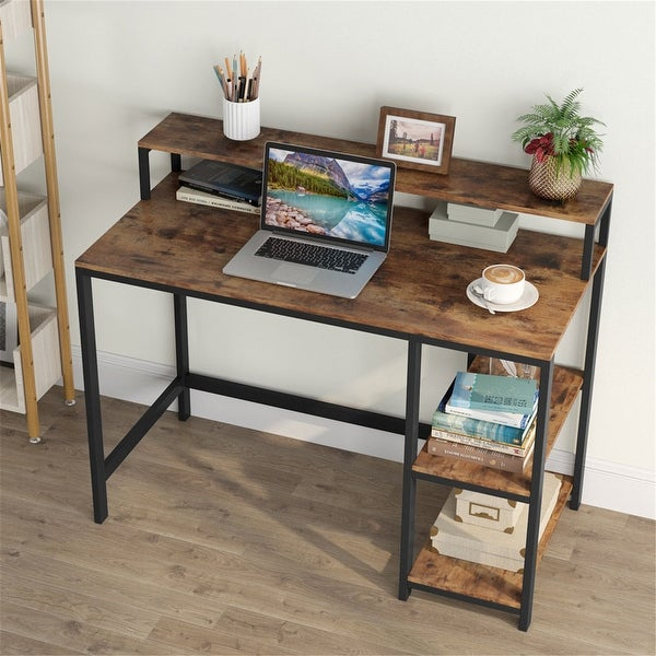 Computer Workstations Writing Desk with StorageShelves. Opens flyout.