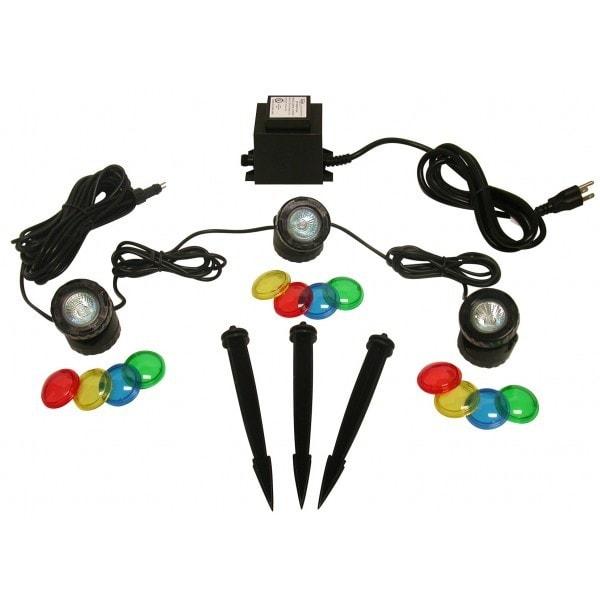 Power Beam 20 Watt Lights w/ Transformer, Set Of 3 - Red