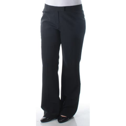 ANNE KLEIN Womens Black Wear To Work Pants Size: 12