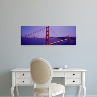 Easy Art Prints Panoramic Images's 'Golden Gate Bridge San Francisco CA' Premium Canvas Art