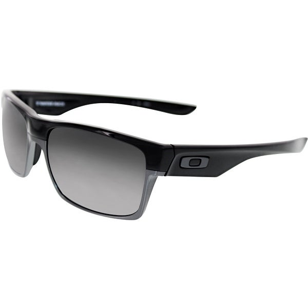 36e67a9890 Shop Oakley Men s Polarized Twoface OO9189-01 Black Rectangle Sunglasses -  Free Shipping Today - Overstock.com - 18914823