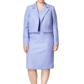 Le Suit NEW Blue Viola Women's Size 24W Plus Textured Dress Suit Set