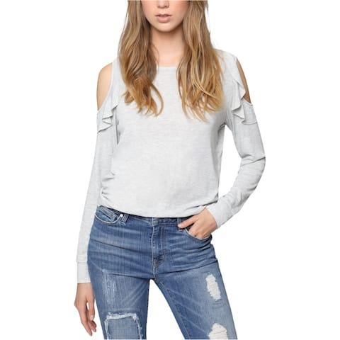 Sanctuary Clothing Womens Cold Shoulder Basic T-Shirt