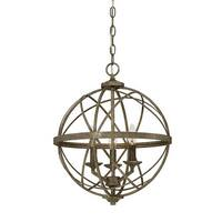 "Millennium Lighting 2283 Lakewood 3 Light 16"" Wide Foyer Pendant with Cage Frame"