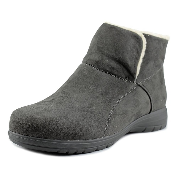 Beacon Whisper Women N/S Round Toe Synthetic Gray Bootie