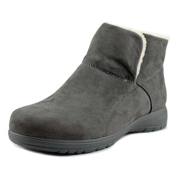Beacon Whisper Women N/S Round Toe Synthetic Gray Bootie