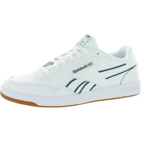 Reebok Mens Club Memt Tennis Shoes Coated Leather Fitness - Clover Green/White