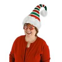 Ridged Adult Costume Santa Hat - Red