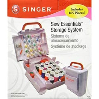 "10""X8.5""X6"" White - Sew Essentials Storage System 165Pcs"