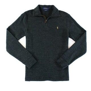 Polo Ralph Lauren NEW Gray Mens Size 2XL Mock-Neck 1/2 Zip Sweater