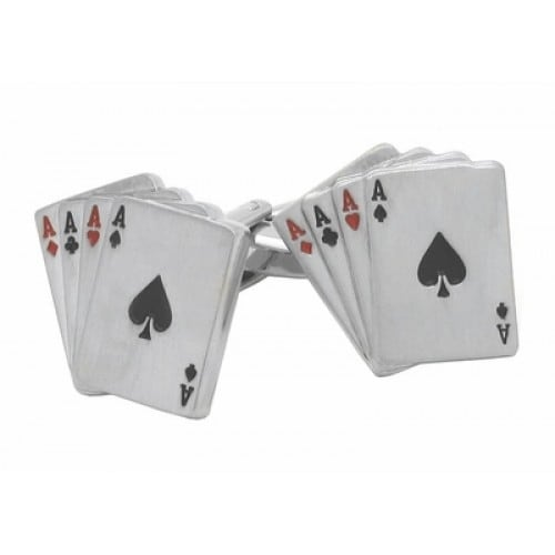 Four Aces Poker Cards Cufflinks