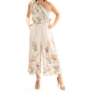 FREE PEOPLE $128 Womens New 1641 Ivory Floral Pocketed Jumpsuit L B+B