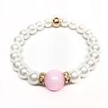 """Pearl & Pink Jade Joy 7"""" Bracelet - Thumbnail 1"""