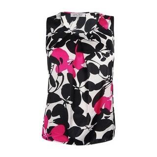 Kasper Women's Petite Floral Print Blouse - Rose Multi