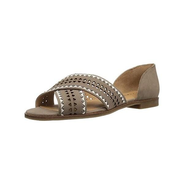Lucky Brand Womens Gallah2 Flat Sandals Studded Open Toe