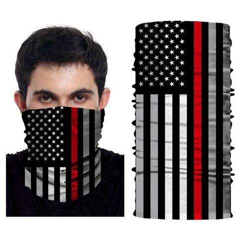 Seamless Full Face Tube Bandanas Scarf Multifunctional Headwear Balaclava Neck Gaiter, US Flag
