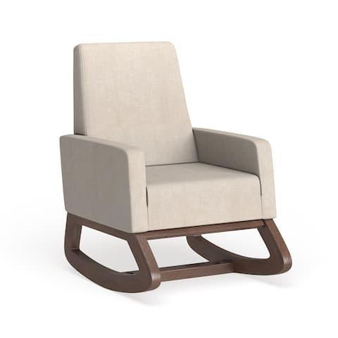Carson Carrington Honningsvag Mid-century Modern Light Beige Upholstered Rocking Chair