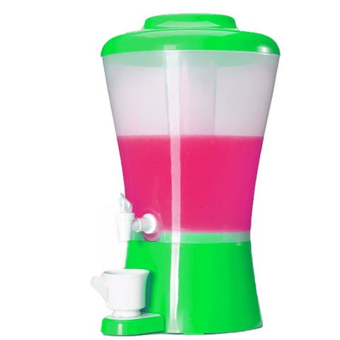 Palais Dinnerware Beverage Drink Dispenser with Ice Tube green.