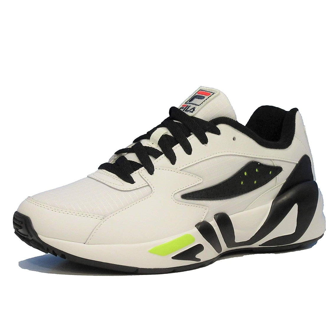 Fila Mens Mindblower Leather Low Top Lace Up Running Sneaker