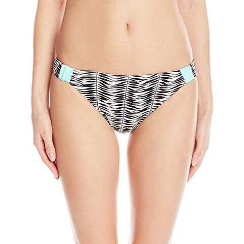 Roxy Women's Reversible 70's Bikini Bottom , Animal Kona X Combo Seaspray, Large - Animal Kona X Combo Seaspray