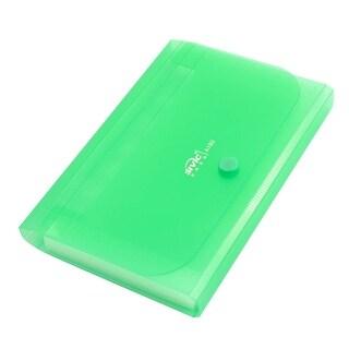 Unique Bargains Home Green Plastic 12 Compartment Paper Document Files Holder Bag