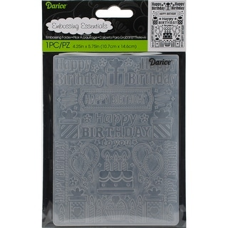 "Embossing Folder 4.25""X5.75""-Birthday Collage"