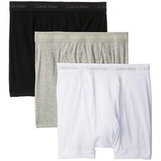 Calvin Klein Men's 3-Pack Cotton Classic Boxer Brief, White/Black/Grey, Medium