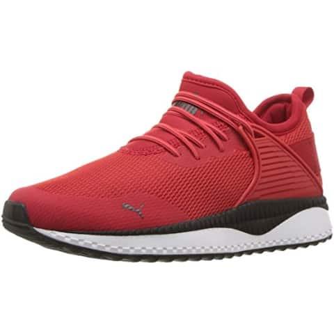 PUMA Unisex Pacer Next CAGE Slip ON Sneaker, High Risk Red Black, 13 M US Little Kid