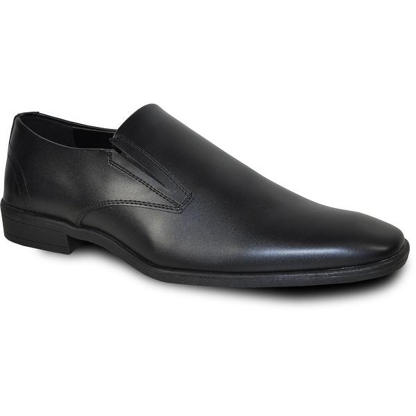 VANGELO Men Dress Shoe TUX-4 Loafer Formal Tuxedo for Prom & Wedding Shoe Black Matte -Wide Width Available