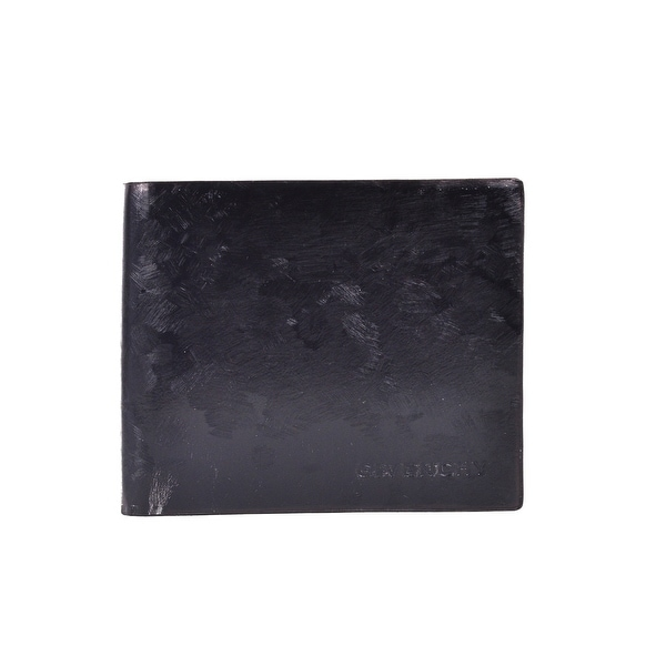 Givenchy Black Textured Goat Leather Compact Bifold Wallet