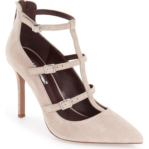 BCBGeneration Womens Tamerra Suede Pointed Toe T-Strap Classic Pumps - 9