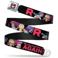 Pok Ball Full Color Black Team Rocket Group Poses R We Are Blasting Off Seatbelt Belt