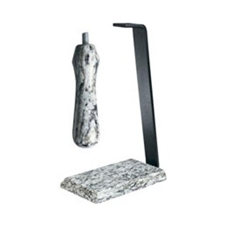 Rogar 0406 Granite Table Stand and Handle Set - White Wave