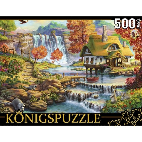 House by the Waterfall 500 pcs. Jigsaw Puzzle for Adults & Kids