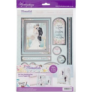 Hunkydory Moments & Milestones A4 Topper Set-On Your Wedding Day