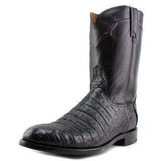 Lucchese Dustin Caiman Round Toe Leather Western Boot