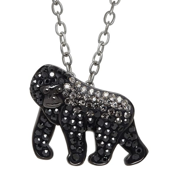 c484d47136f049 Shop Animal Planet Gorilla Pendant with Swarovski Elements Crystals ...