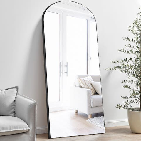 Modern Arched Mirror Full-length Floor Mirror with Standing