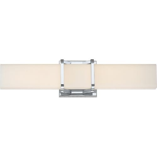 """Platinum PCAS8520 Axis LED 20"""" Wide Bathroom Bath Bar with Patterned/Etched Glass"""