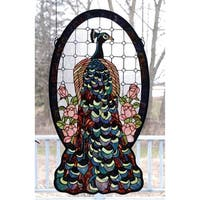 Meyda Tiffany 67135 Stained Glass Tiffany Window from the Peacocks Collection - n/a