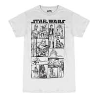 Star Wars Heroes & Villains Men's Grey T-shirt