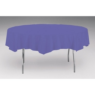 Touch Of Color Octy-Round Round Plastic Table Cover Purple