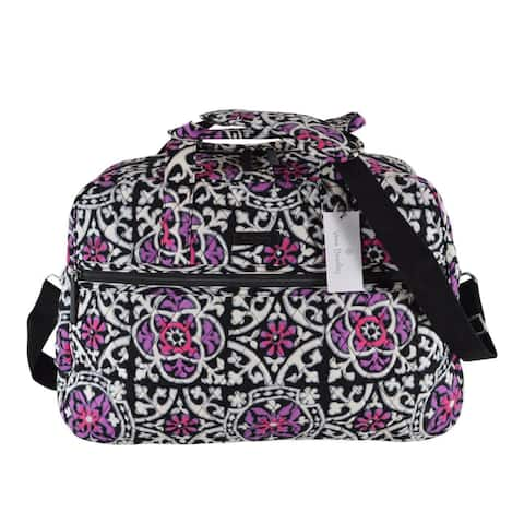 Vera Bradley SCROLL MEDALLION Print Cotton Medium Traveler Weekender Bag