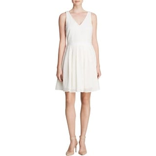 Joie Womens Creneau Casual Dress Eyelet Pleated - m