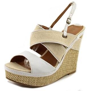 Mia Gracemarie Women Open Toe Synthetic Wedge Sandal