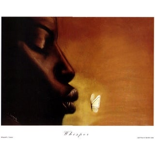 ''Whisper'' by Laurie Cooper African American Art Print (34 x 19 in.)