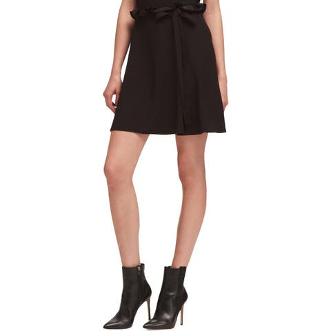 DKNY Womens Mini Skirt Ruffled Ribbon Detail